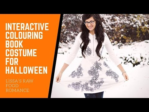 INTERACTIVE HALLOWEEN COSTUME - BE A COLOURING BOOK - TIMELAPSE DRAWING