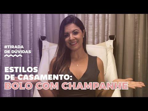 Estilos de casamento - Bolo com champanhe | Carol Cerini