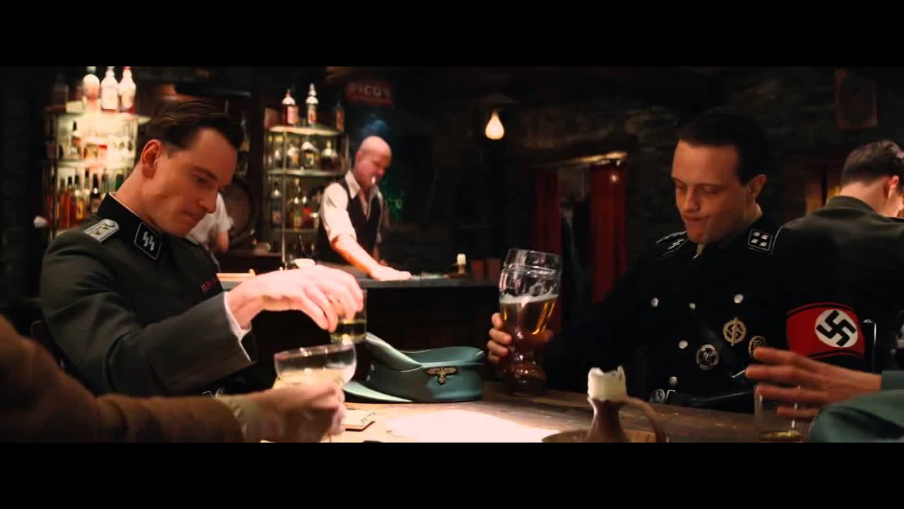 inglourious basterds bar scene without dialogues - YouTube