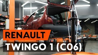 How to replace Shock absorbers on RENAULT TWINGO I (C06_) - video tutorial