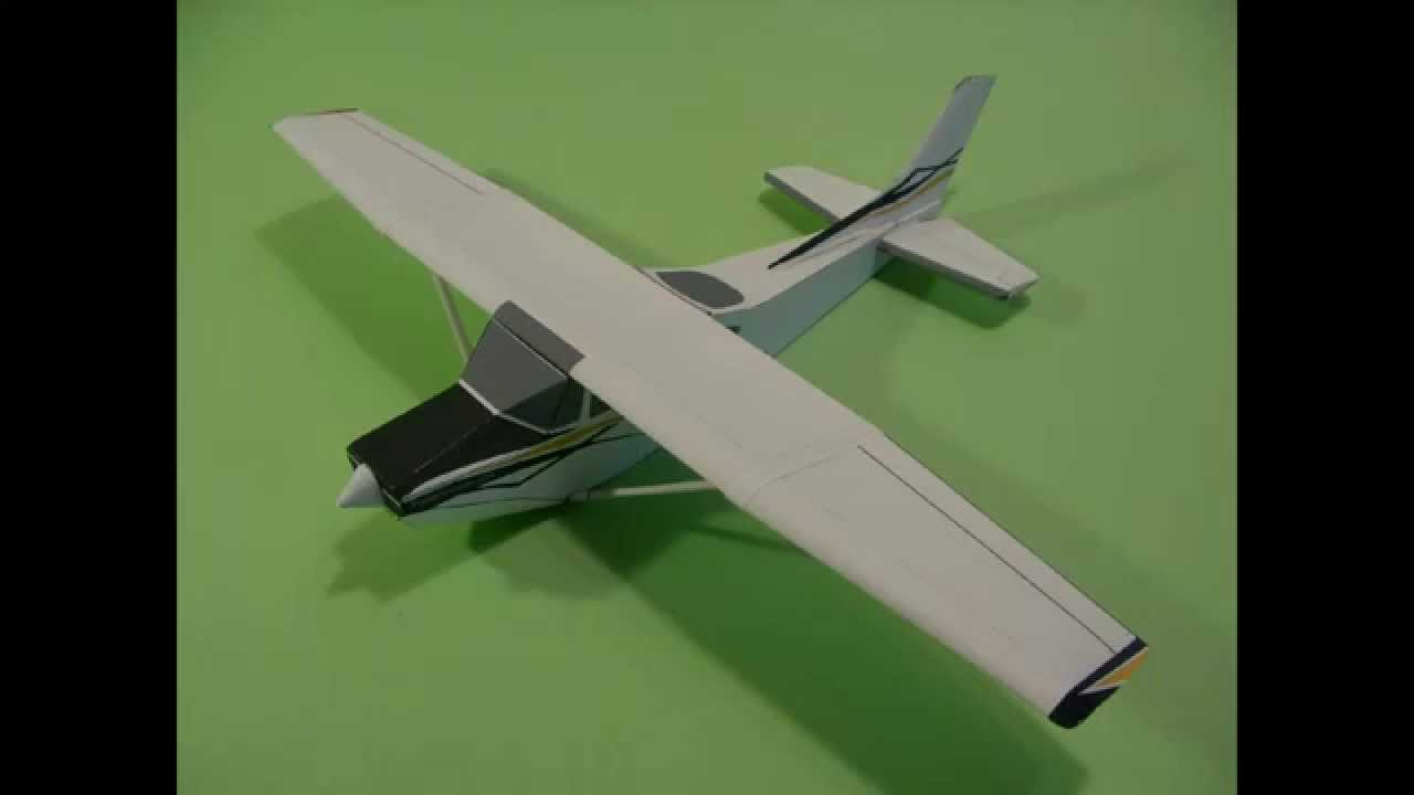 cessna skylane paper airplane 3d model