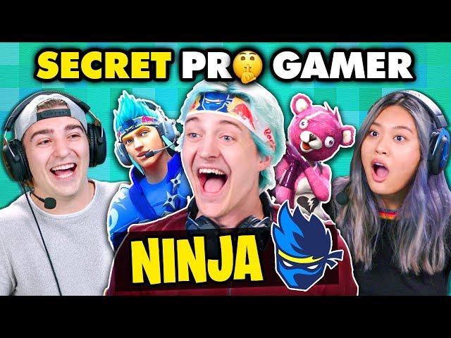 Ninja DESTROYS Fortnite Players (Secret Pro Gamer) | React