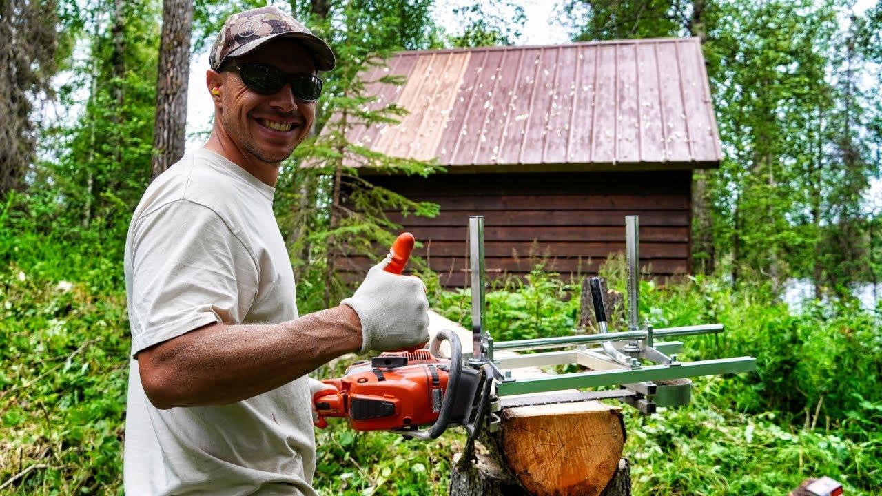 Lakeside Alaskan Cabin | Milling Lumber for Stairs (Part 1)