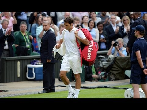 Roger Federer on second round defeat at Wimbledon 2013