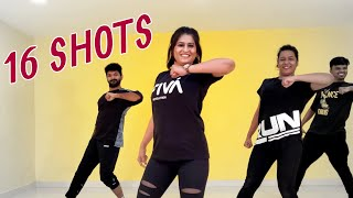 16 Shots (Jay Riet Remix) | Reggaeton Dance Fitness Choreography by Vijaya Tupurani | Stefflon Don