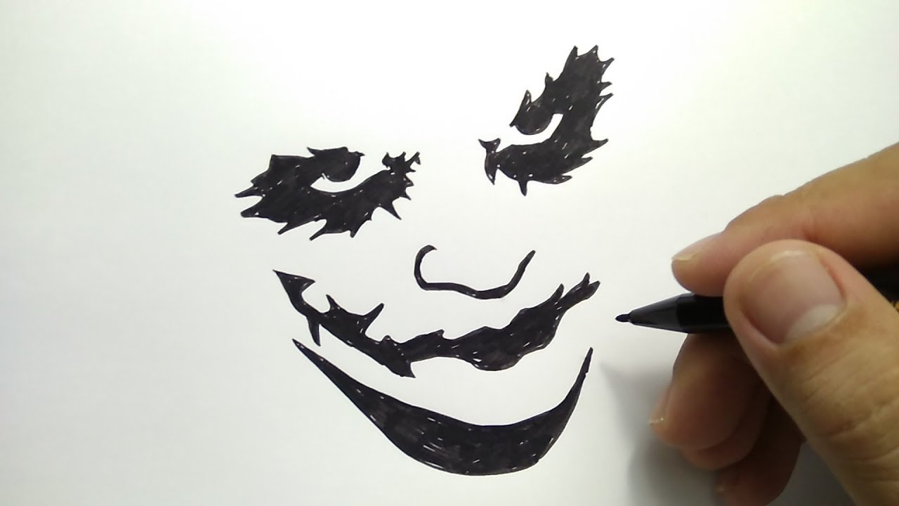 Cara Menggambar Siluet Joker How To Draw Joker Simple YouTube