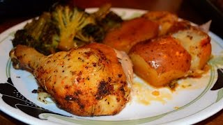 Herb Roasted Chicken with Potatoes & Broccoli