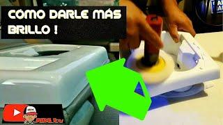 Cómo pulir una pieza de plástico repintada