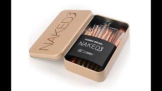 Review bộ cọ trang điểm Naked3 12 cây