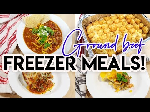 �� 8 GROUND BEEF FREEZER MEALS FOR $50!! �� FREEZER COOKING ON A BUDGET �� COOK WITH ME