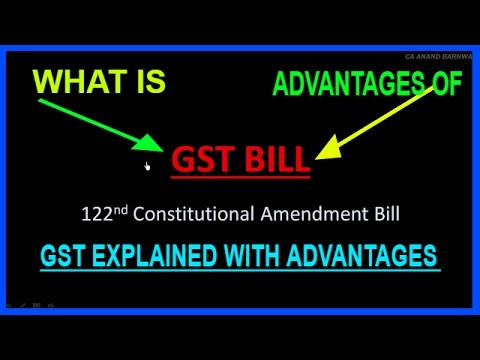 WHAT IS GST? ADVANTAGES? [HINDI]