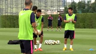 Download Messi and Neymar funny moments in the training today MP3 song and Music Video