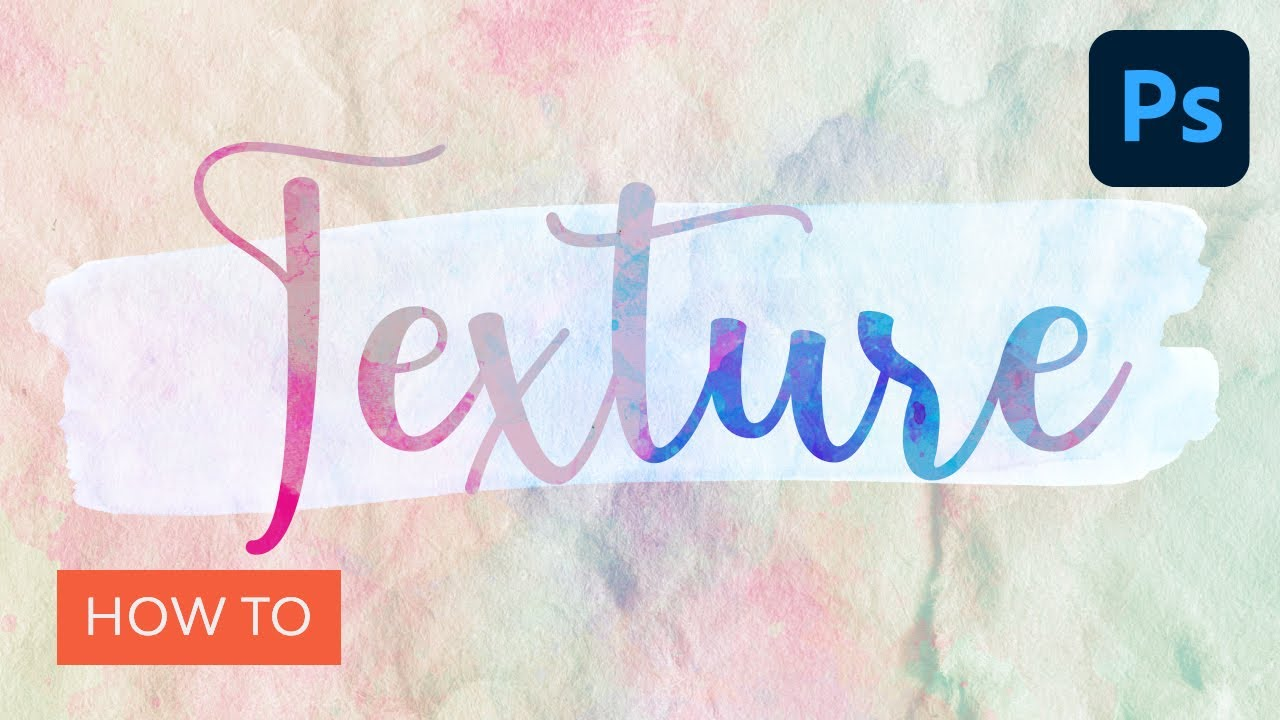 How to Apply Texture to Text in Photoshop |  Photoshop Tutorial