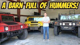 homepage tile video photo for We found a barn full of INSANELY RARE Hummers, and Bought 2 BROKEN H1s.