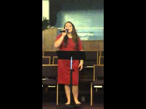 Amber Scott singing Hallelujah