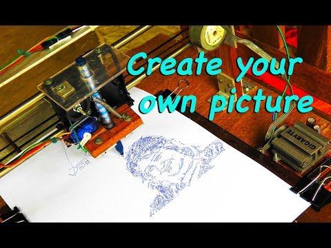 Make original photo making CNC machines, With the printer parts (Part 2)