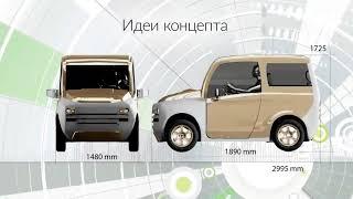 Российский Электромобиль Зетта с мотор колесом Дуюнова обзор 1