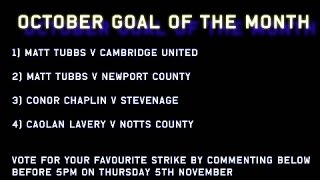 October Goal of the Month: The Contenders