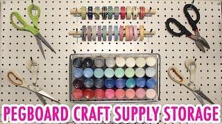 Pegboard Craft Supply Storage | How to Install! - HGTV Handmade