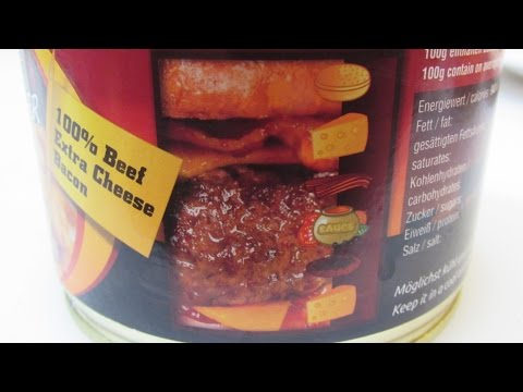 Bacon Cheeseburger IN A CAN - WHY?? - WHAT ARE WE EATING???