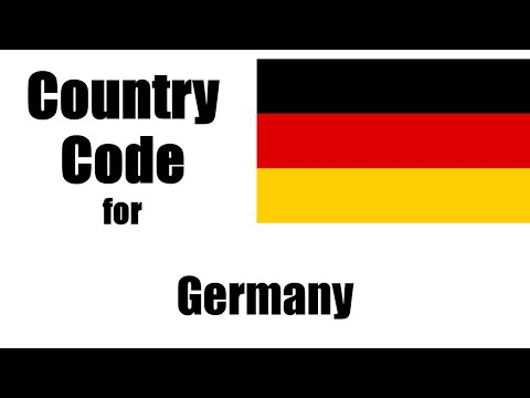 Germany Dialing Code - German Country Code - Telephone Area Codes In Germany