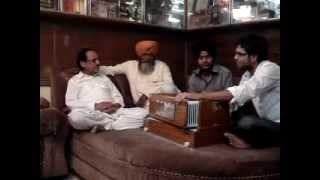 Jazim Sharma with Ghulam Ali Khan Sahab