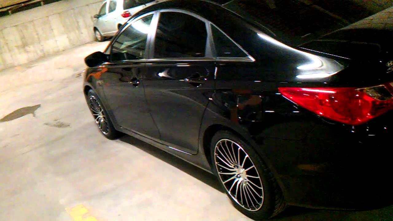 Hyundai Sonata 2011 Black 18 Rims Youtube