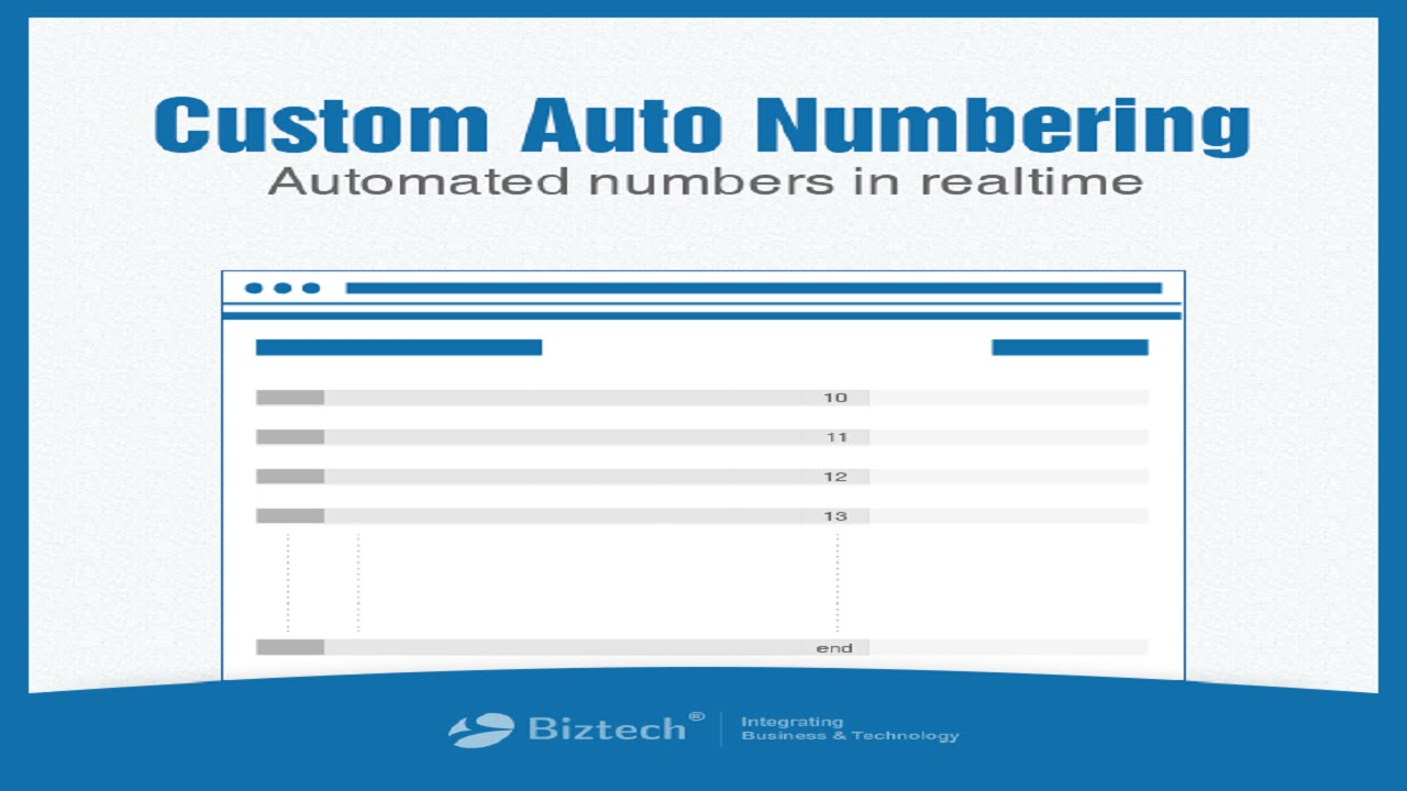 custom numbering