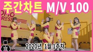 [주간차트 2020년 1주차] 금주의 KPOP 아이돌 뮤직비디오 순위 100 - 2020년 1월 5일 | 와…