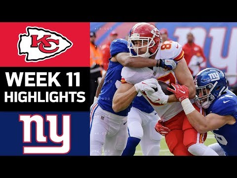 Chiefs vs. Giants | NFL Week 11 Game Highlights