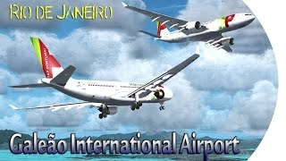 FSX [HD] - TAP Airbus A330 | Approach to Rio de Janeiro–Galeão International Airport