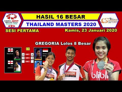 Hasil Babak 16 Besar Thailand Master 2020 ~ Gregoria Lolos Ke 8 Besar