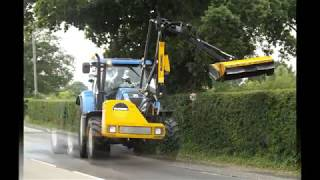 Hedge Cutting with New Holland T7.185 & Front Mounted McConnel