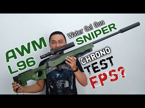 Sniper AWM L96 Water Gel Gun Blaster. WGG Unboxing, Review, Dan Tes Chrono.