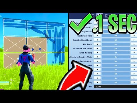 BEST CONTROLLER SETTINGS to Build 2x FAST! SETTINGS FOR PS4/XBOX! (Fortnite Best Sensitivity)