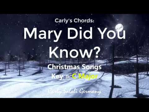 Mary Did You Know? - CHORDS - KEY: B Min - YouTube
