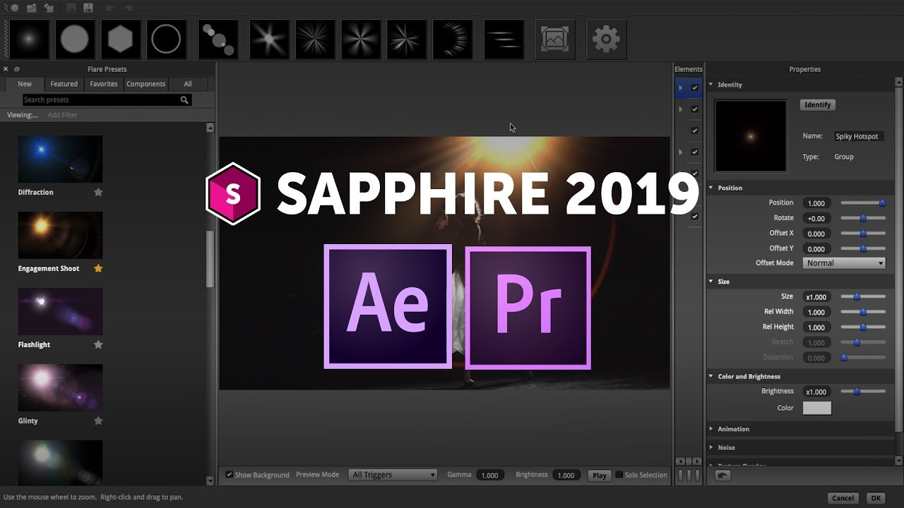 Sapphire 2019: New Features for Adobe After Effects and Premiere Pro