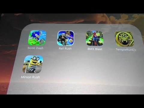 Sonic Dash Vs Rail Rush Vs BMX Blast Vs Temple Run Oz Vs Minion rush