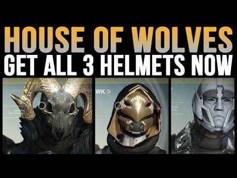Get All Destiny House Of Wolves Exotic Helmets Now [Eternal Warrior, The Ram, Celestial Nighthawk]