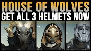 Get all Destiny House of Wolves Exotic Helmets Now [Eternal Warrior, The Ram, Celestial Nighthawk]