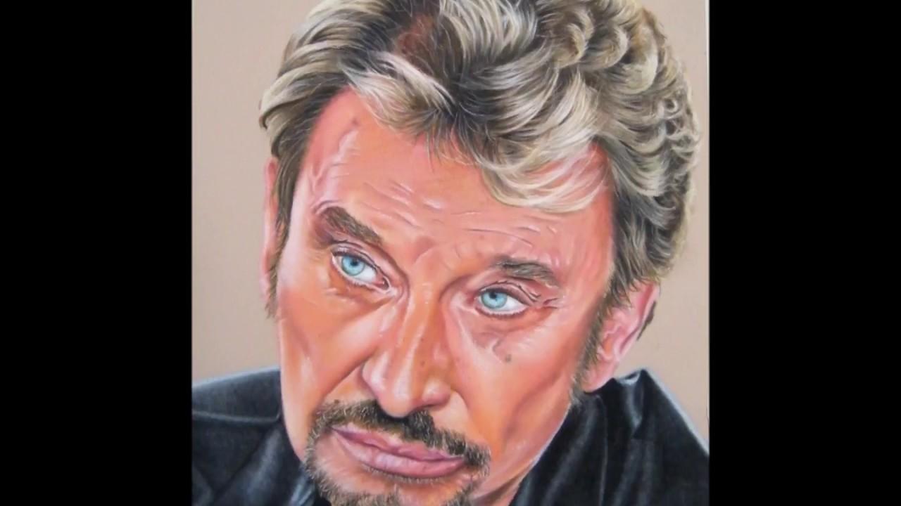 Portrait Johnny Hallyday Aux Pastels Secs Youtube