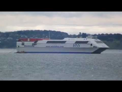 STENA H.S.S. VOYAGER ON HER LAST TRIP 5/5/13