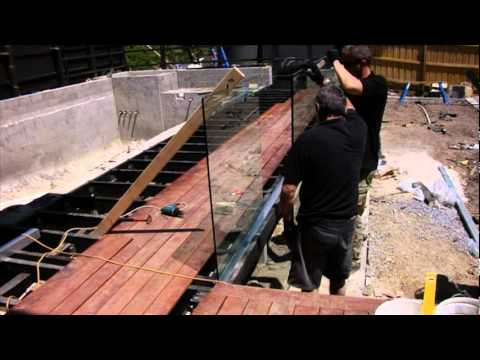 Diy Fully Frameless Pool Fence Installation Youtube