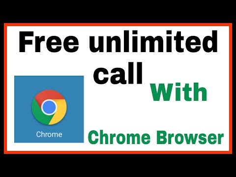 Unlimited free call with Chrome Browser.