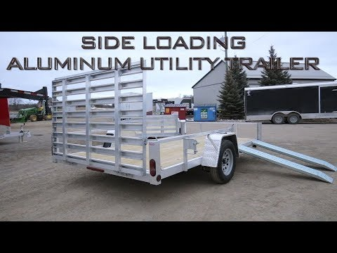 Side Loading Aluminum Utility Trailers - ACTION TRAILER SALES