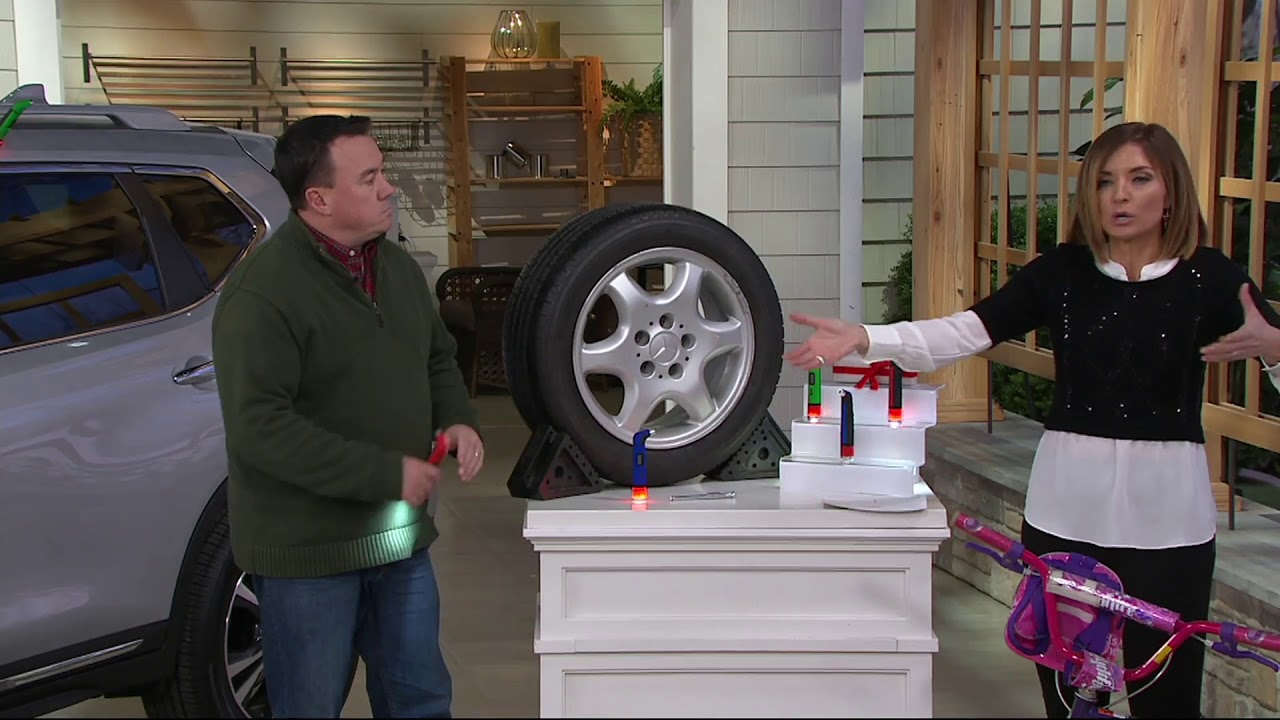 360 Degree Rotating Head Tire Pressure Gauge with Flashlight on QVC