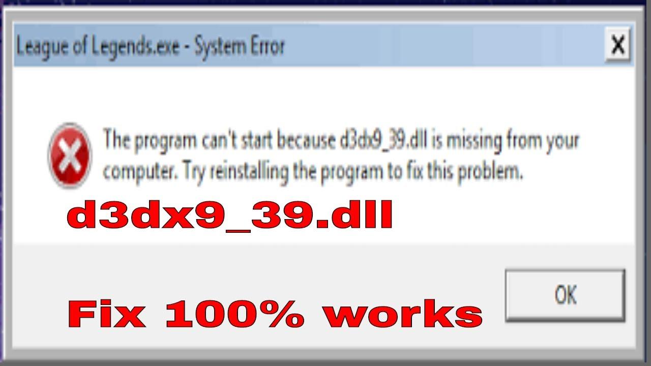 D3DX9 39.DLL BITS TÉLÉCHARGER 64