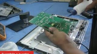 reparar pantalla rca lcd, no enciende revisar fuente de poder, electronica nuñez