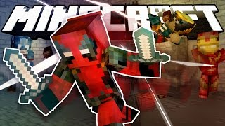Minecraft Modded Cops N Robbers | DEADPOOL VS MARVEL! (Funny Moments)