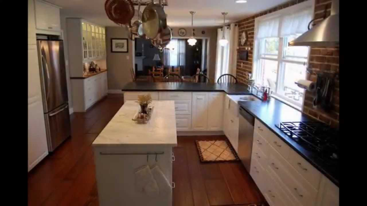 Image Gallery of Long Narrow Kitchen Designs Ideas with Island in Europe  YouTube